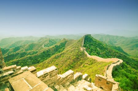 jinshaling: View on Great wall by Jinshaling in China