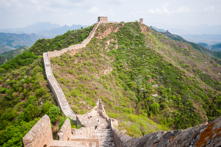 simatai: Greta whatch tower of great wall by Simatai in China