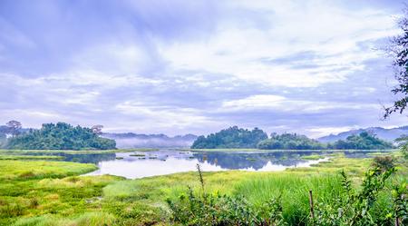 View on crocodile lake in Cat Tien National Park in Vietnam Stok Fotoğraf
