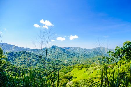 marta: View on mountain landscape by Minca in Colombia