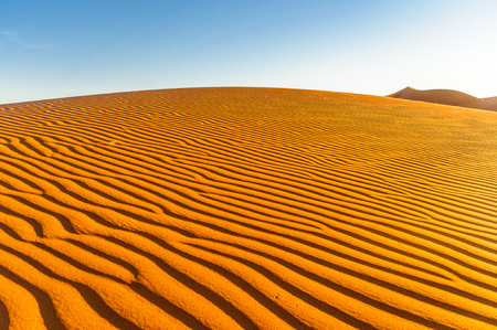 View of dunes in the dessert of Morocco by Mhamid
