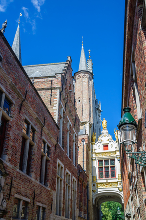 View on Historical buildings in Bruges Belgium