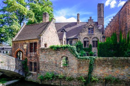 View on Historical buildings in Bruges Belgium