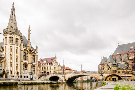 View of Cityscape of Gent in Belgium