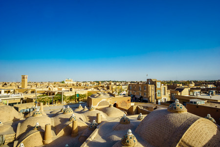View over the roofs of Kashan in Iran Stock Photo