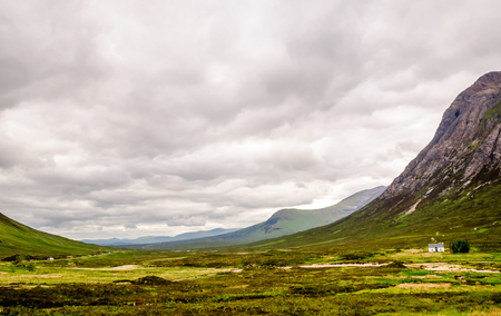 highlands region: View on Glencore valley in Scotland - Skyfall valley Stock Photo