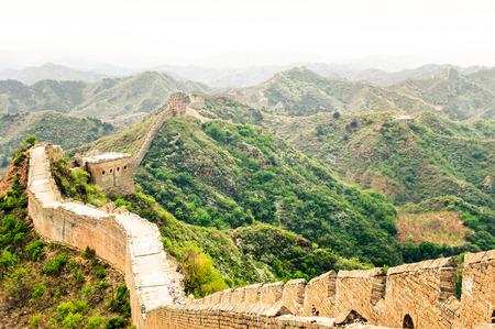 jinshaling: View on great wall by Jinshaling China