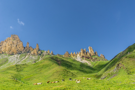 View on Schlern mountain landscape in South Tyrol