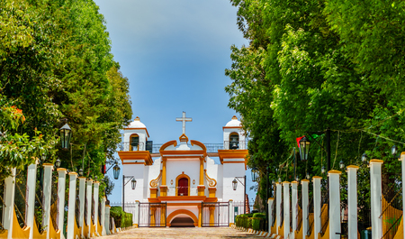 View of colonial Guadalupe Church in San Cristobal de las Casas - Mexiko Stock Photo