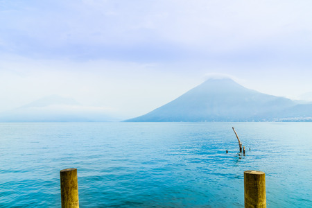 View on lake Atilan and volcano San Pedro in Guatemala