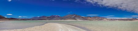 Panoramic View of lagoon Salar de talar by San Pedro de Atacama in Chile