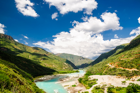 View on Gorche chicamocha canyon in the Andes of Colombia Stock Photo