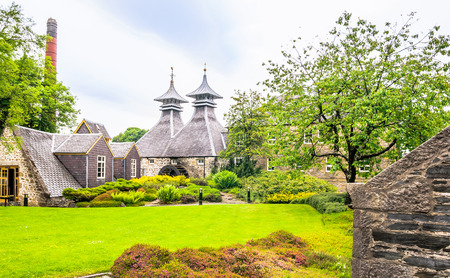 View of An old whiskey distillery in the north of Scotland
