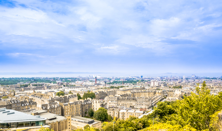 View on Cityscape of Edinburgh - the capital of Scotland