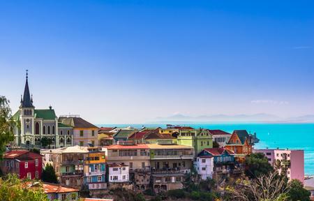 View on Cityscape of historical city Valparaiso