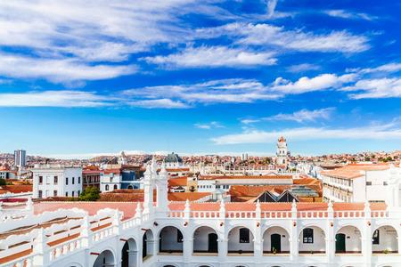 View on cityscape of Sucre in Bolivia Standard-Bild