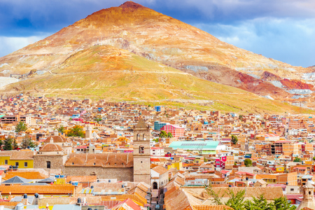 View on cityscape of Potosi withe Cerro rico Potosi - Bolivia