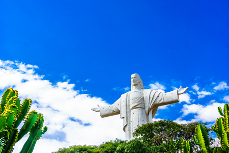 View on world largest Jesus Christ staue in Cochabamba - Bolivia