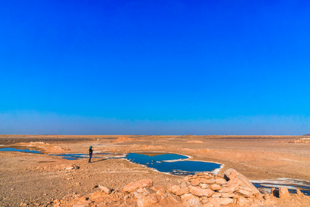 View on freshwater spring in the desert of Iran
