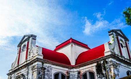 View on  Wolvendaal Church - a Dutch Reformed Christian Colonial Church in Colombo, Sri Lanka Stock Photo