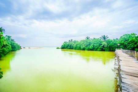 Rekawa lagoon next to Tangalle, Sri Lanka Stok Fotoğraf