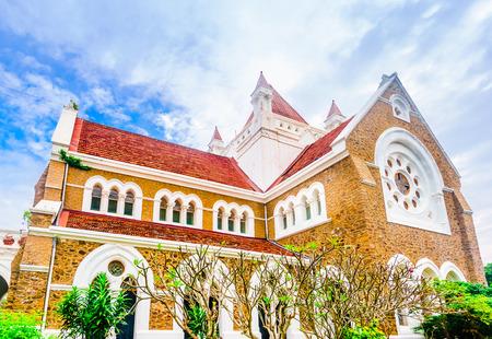 All Saints Anglican church in Galle, Sri Lanka Stock Photo