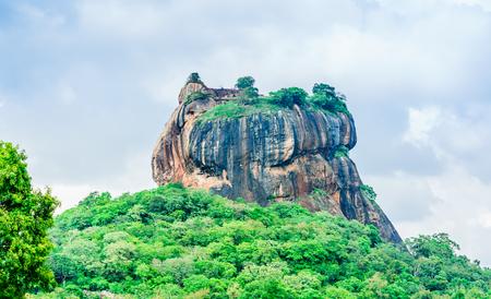 View to Sigiriya rock in the jungle of Sri Lanka