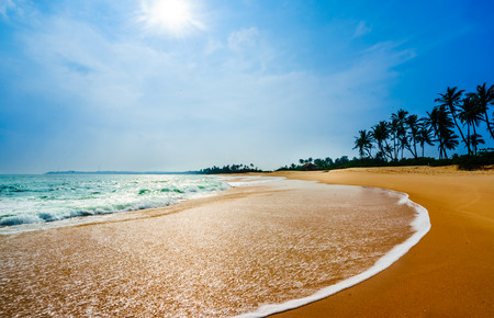 View on tropical beach next of Tangalle - Sri Lanka