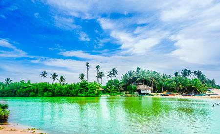 Rekawa lagoon next to Tangalle, Sri Lanka Stock Photo