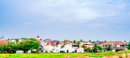 View on Cityscape of colonial old town of Galle, Sri Lanka