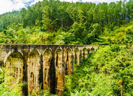 View on Nine Arches Bridge in Sri Lanka, Ella