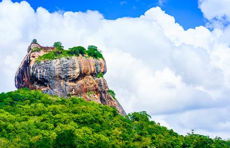 Sigiriya rock in the jungle of Sri Lanka Stock Photo