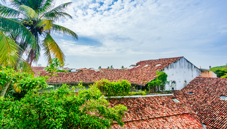 Cityscape of colonial buildings in old town of Galle, Sri Lanka