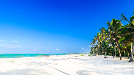 Caribbean tropical beach by Palomino in Colombia Stock Photo