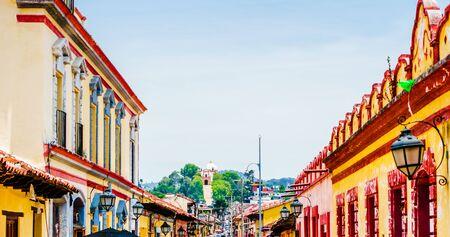 Pedestrian street and - San Cristobal de las Casas, Chiapas, Mexico