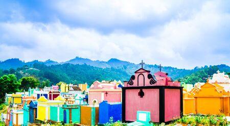 Colerful cemetery by city of Chichicastenango - Guatemala Zdjęcie Seryjne