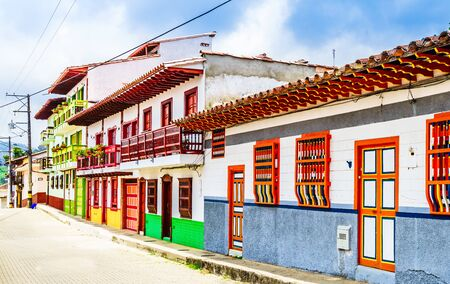 Jerico, Colombia, Antioquia, streets of the colonial city, Colombia