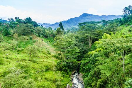 Natural landscape next to Jardin in Colombia 写真素材 - 129980262