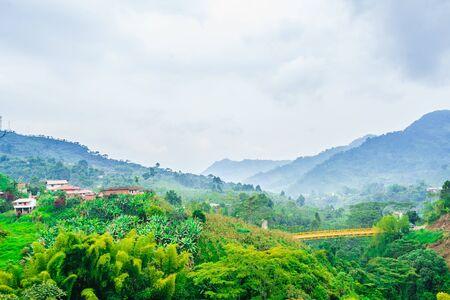 Green landscape next to the village of Jardin, Colombia Zdjęcie Seryjne