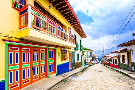 Jerico, Colombia - streets of the colonial city, Colombia