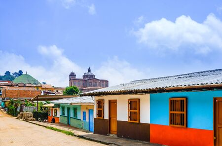 Jerico, Colombia - streets of the colonial city, Colombia Stock Photo
