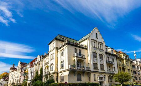 Old residential buildings in Bogenhausen Munich, Germany