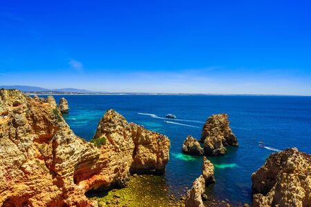 Farol da Ponta da Piedade - beautiful coast of Portugal, Algarve Stock fotó