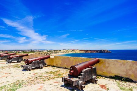 Cannon at the fortress of Cabo de S. Vincente, Sagres, Portugal