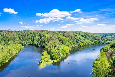 Rappbode dam and reservoir in Harz mountain, Germany