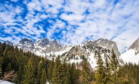 Idyllic winter mountain landscape in the Alps, Austria