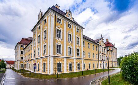 View on monastery Roggenburg in Bavaria, Germany 免版税图像