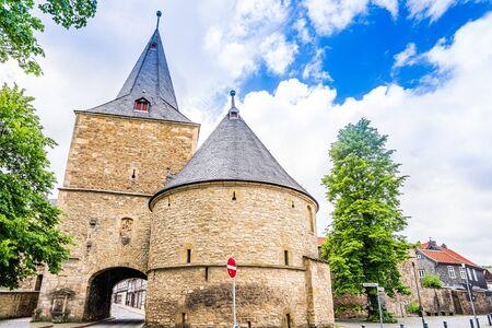 Broad Gate in city of Goslar, Germany