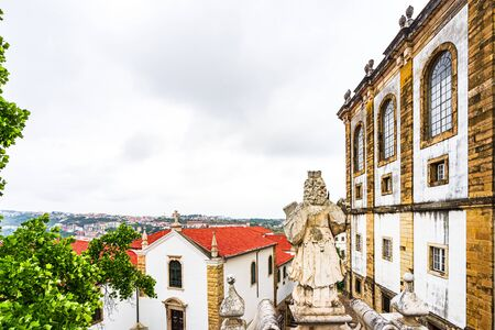 View from university buildings of Coimbra, Portugal 免版税图像