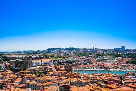 Cityscape of the Old Town of Porto in Portugal